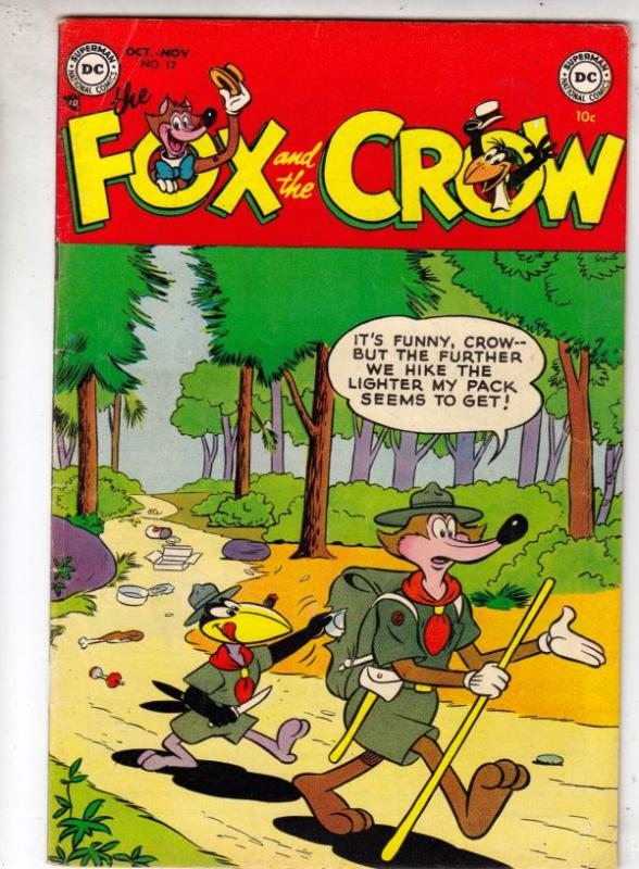 Fox and the Crow, The #12 (Oct-53) FN/VF+ High-Grade Fox and Crow