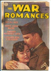 War Romances #1 1952-Quality-1st issue-spicy art-lingerie panels-rare-FR
