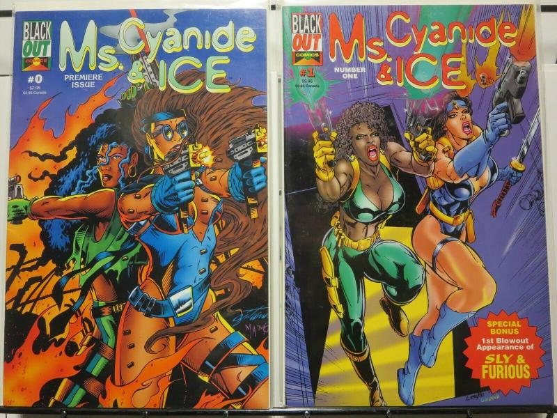 MS CYANIDE & ICE (1995 BLACK OUT) 0-1  bad-girl team!