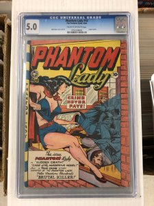 Phantom Lady #19 CGC 5.0 VG/F golden age 1948 fox feature syndicate MATT BAKER