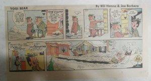 Yogi Bear Sunday Page by Hanna-Barbera from 2/17/1974 Third Page Size !