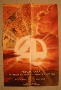 FANTASTIC FOUR #1 Promo Poster, 12x18, 1997, Unused, more Promos in store