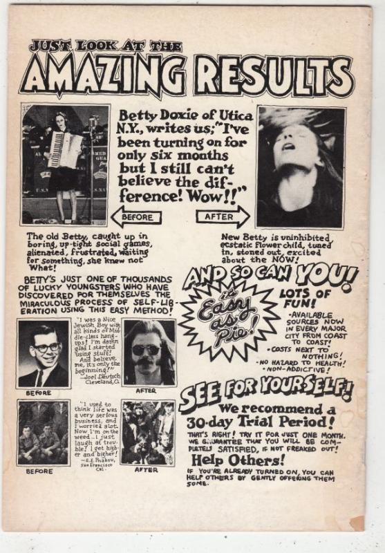 Zap #1 (Nov-67) VG+ Affordable-Grade Whiteman, Mr. Natural, Flaky Foont
