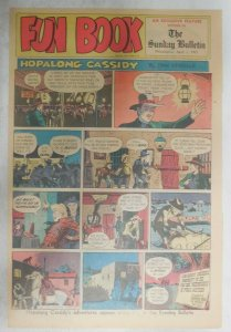Hopalong Cassidy Sunday Page by Dan Spiegle from 4/1/1951 Size: 11 x 15 inches