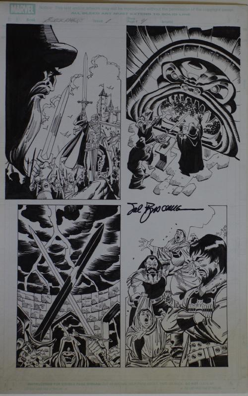 RON FRENZ / SAL BUSCEMA original art, BLACK KNIGHT #1 pg 4, 2010, 11x17
