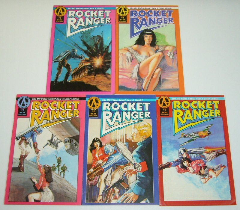 Rocket Ranger #1-5 complete series - video game- full page ad pre-dates Spawn #1