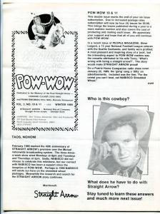 Straight Arrow Pow-Wow Vol. 3 #10 & 11 1989- Western fanzine newsletter