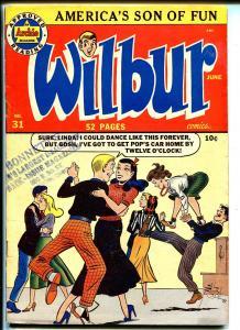 Wilbur #31 1950-Archie-Katy Keene-teen humor-dance cover-VG
