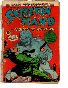 SKELETON HAND (1953) 5 POOR May-June 1953