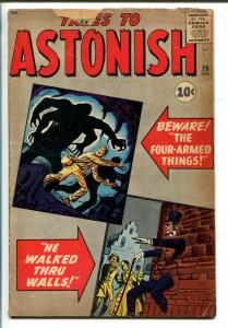 TALES TO ASTONISH #26 1961-MARVEL-PRE ANT-MAN-PRE-SUPER HERO-good/vg