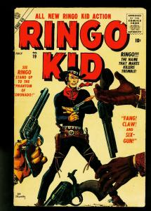 Ringo Kid #19 1957- Atlas Western- Maneely- Silver Age- VG-