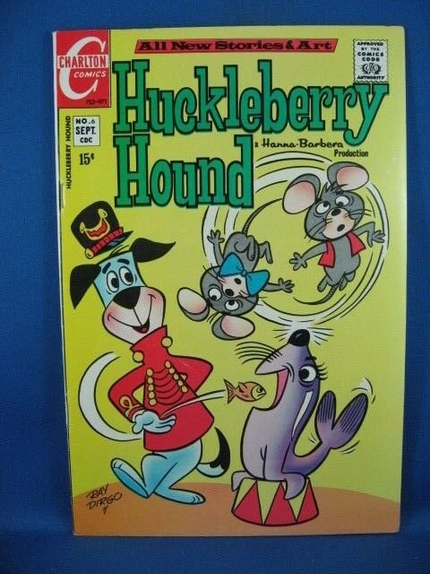 Huckleberry Hound #6 (Sep 1971, Charlton) VF+