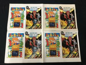 New Teen Titans #1 4 xCover Proof Sheet- George Perez DC Production Art
