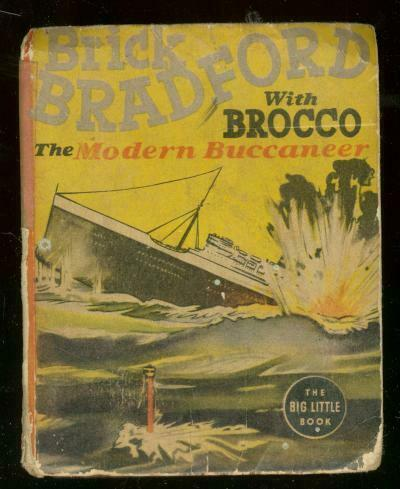 BRICK BRADFORD WITH BROCCO #1468-BIG LITTLE BOOK--1938 G/VG