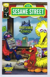 Sesame Street #1 Imagination Midtown Comics Exclusive Variant Cover 2013 Ape