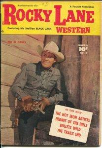 Rocky Lane Western #9 1950-Fawcett- B-Western movie star photo cover-VG