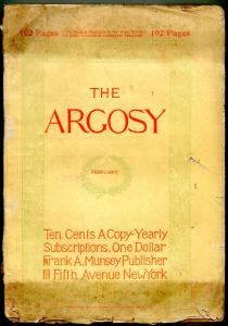 Argosy February 1898-Phantom Army- Early Pulp fiction title F/G