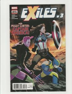 Exiles #3 (Marvel 2018) Peggy Carter as Captain America