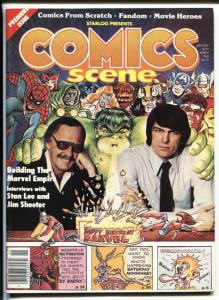 Comics Scene #1 Jan 1981-Starlogs-1st issue-Stan Lee-Jim Shooter-Phantom-VF/NM