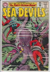 Sea Devils #21 (Feb-65) VG- Affordable-Grade Sea Devils (Dane Dorrence, Biff ...