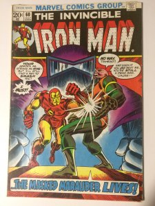 INVINCIBLE IRON MAN #60 (1968) MARK JEWELERS INSERT MASKED MARAUDER FN/VF