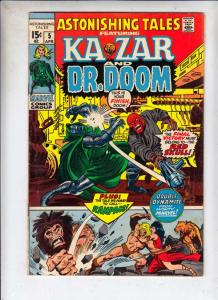 Astonishing Tales #5 (Apr-71) FN/VF Mid-High-Grade Ka-Zar