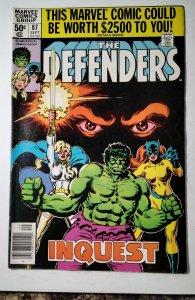 The Defenders #87 (1980) Marvel Comic Book J757