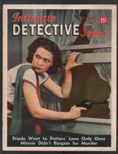 Intimate Detective Stories #9 11/1940-gun moll-mystery-violent-pulp thrills-VF