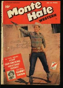 MONTE HALE WESTERN #43-PHOTO COVER-FAWCETT-1949 G