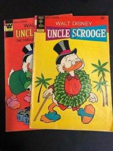 LOT OF 2-Gold Key / Walt Disney Uncle Scrooge #101 &132 VERY GOOD/FINE (907J)