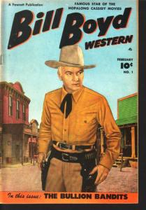 BILL BOYD WESTERN #1 PHOTO COVERS 1950 FAWCETT COMICS FN/VF