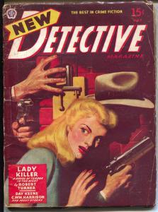 New Detective 5/1946-Popular-Day Keene-Turner-hard boiled pulp crime-VG+