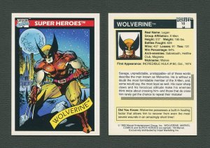 1990 Marvel Comics Card  #10 (Wolverine) / MINT