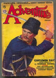 Adventure Pulp February 1938- Georges Surdez- Cossack cover G