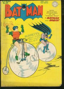 BATMAN #29-BICYCLE CVR-DC COMICS VG