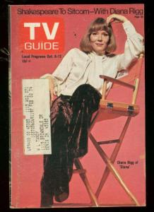 TV Guide October 6 1973- Central Ohio edition- Diana Rigg