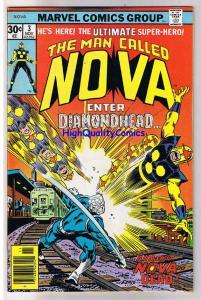 NOVA #3, FN, DiamondHead, Buscema, Marv Wolfman,1976, more in store