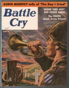 Battle Cry 8/1956-Clarence Doore-Dawn Drey cheesecake-Guadalcanal-FN+