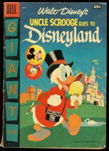 UNCLE SCROOGE GOES TO DISNEYLAND 1957-DELL GIANT-BARKS VG-