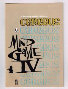 Cerebus The Aardvark # 63 VF Aardvark-Vanaheim Comic Book Dave Sim 1st Print S10