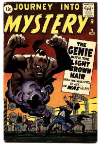 JOURNEY INTO MYSTERY #76-comic book-GENIE-PRE-HERO MARVEL-1962
