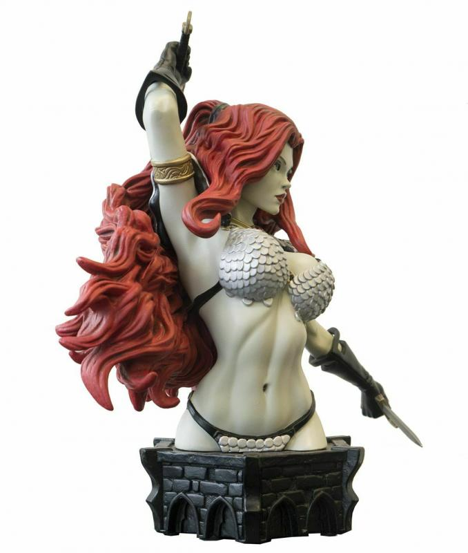 Women Of Dynamite Red Sonja Bust by Adams B&W Variant Ltd Edition #263/299 New!