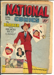 National Comics #65 1949-Quality-Quicksilver-The Barker-Sally O'Neil-cards on...