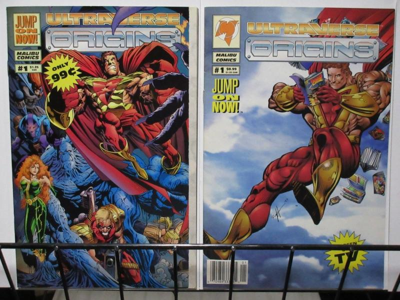 ULTRAVERSE ORIGINS (1994 MA/UL) 1A-1B  set of BOTH!