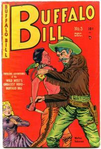 BUFFALO BILL #3 1950 GOLDEN-AGE WESTERN WALTER JOHNSON VG