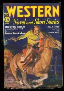 WESTERN NOVEL AND SHORT STORIES PULP OCT 1936-HI GRADE VF