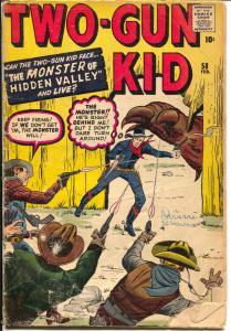 Two-Gun Kid #58 1961-Origin issue- Sci-fi story- FAIR