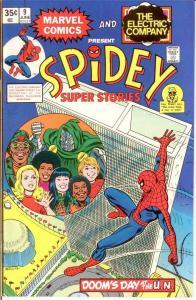 SPIDEY SUPER STORIES 9 VF-NM June 1975 Dr Doom,Hulk COMICS BOOK