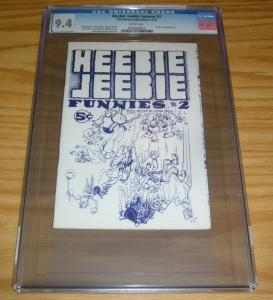 Heebie Jeebie Funnies #2 CGC 9.4 william stout - scott shaw - underground comix