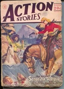 Action Stories-Winter 1944-Senorita Scorpion-rare issue-G+